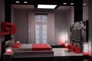 Дизайн спальні з лоджією