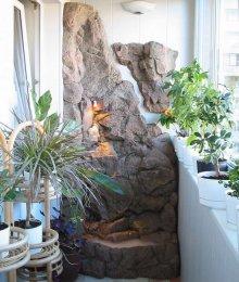 Фонтан в зимовому саду дозволить підтримувати потрібну вологість