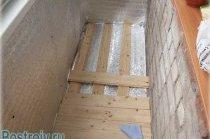 Як правильно утеплити підлогу на балконі - Фото