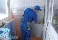 Кріплення пароізоляції на балконі.  утеплення балкона