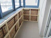 Монтаж обрешітки на балконі