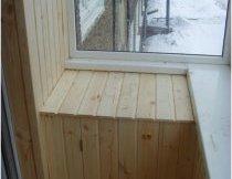 Обшивка балкона вагонкою