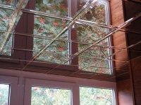 Оздоблення стелі балкона плиткою