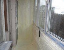 Утеплення лоджії, утеплення балкона, липецк, ППУ